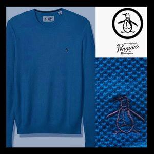 BNWT PENGUIN 🐧 Crewneck Sweater in Dark Denim